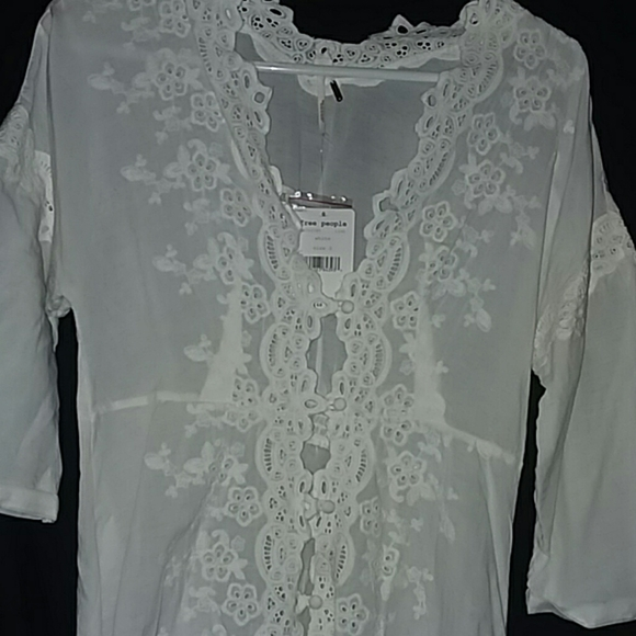 Free People Tops - NWT Free People white tunic dress, cover up, top